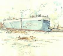 containerschiff-am-oswaldkai-a1007hh-56x42cm