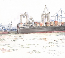 containerschiff-und-kraehne-a9904hh-40x30cm