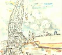 kran-und-containerschiff-a1007hh-42x56cm