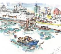 kreuzfahrtschiffe-am-anleger-a1207hh-44x37-cm