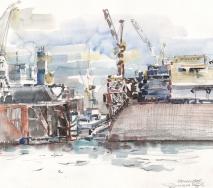 schiffe-im-hamburger-dock-a9110-48x36cm