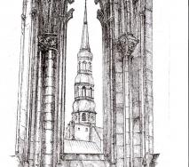 Blick auf St. Nikolai r8607hc 40x50cm