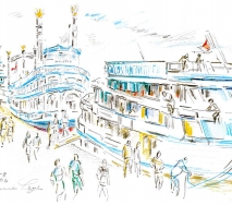 Hafenrundfahrt b0608hh25-1k 40x30cm