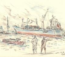 containerschiff-auf-der-elbe-b1201hh-40x30cm