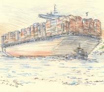 containerschiff-mit-schlepper-b1202hh-40x30cm