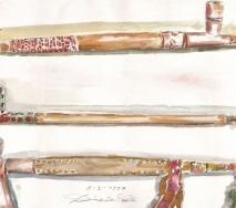 indianer-pfeifen-und-tomahawk-a9702me-48x36cm