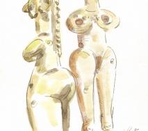 zwei-figuren-idole-11-02-2011-aquarell-a1102me-211
