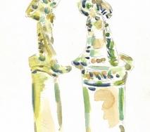 zwei-idole-12-02-2011-aquarell-a1102me214