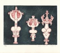 idole schwarz-rot-weiss-r8400me-40x25cm