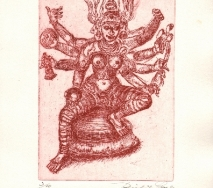 Kali, goettin des todes rot-r0000me-25x40cm
