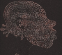 frau-mit-maske-schwarz-braun-r6800s-40x50cm