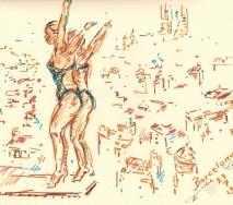 schwimm-wm-barcelona-2013 synchronspringen der damen-b1307s-40x30cm
