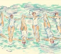 synchronschwimmen-b1220s-40x30cm